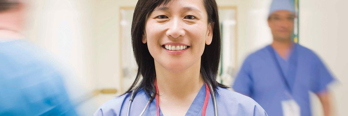 Image of smiling healthcare professional